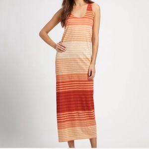NWT Joie Belina Aurora Red Orange Midi Dress